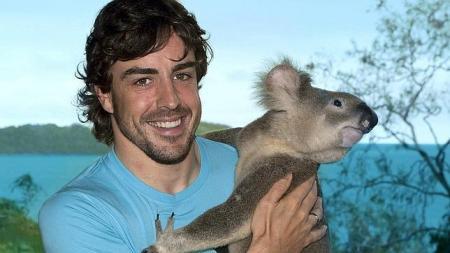 Alonso descansa en la isla de Hamilton